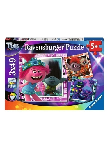 Ravensburger 3x49 Parça Puzzle Trolls 50819 Renkli